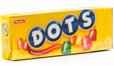 Tropical Dots Gumdrops Candy - 24/2.25 oz Case