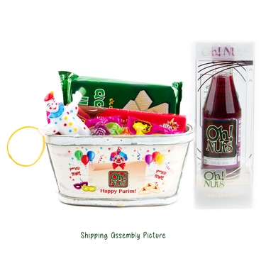 Colorful Clown Basket - 6 PACK