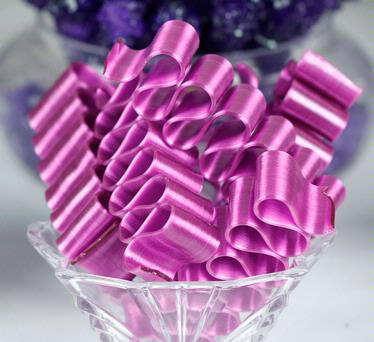 Old Fashioned Purple Thin Candy Ribbon - 6CT Box