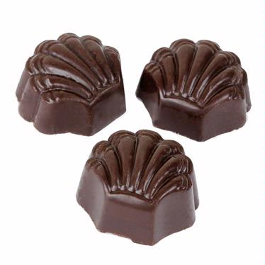Dark Seashell Praline Chocolate Truffles - 5 LB Box