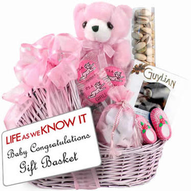 Baby Girl Congratulations Gift Basket Inspired by