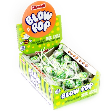Blow Pop Sour Apple