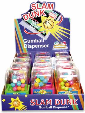 Slam Dunk Basketball Gumball Dispensers - 12CT Case