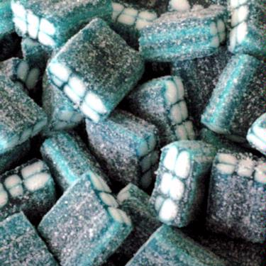 Blue Raspberry Sour Gummy Cubes