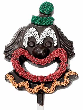 Jolly Clown Dark Belgian Chocolate Pop