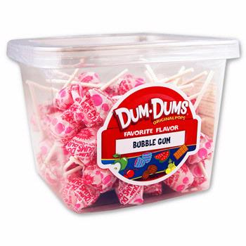 Bubble Gum Dum Dum Pops - 120CT Box