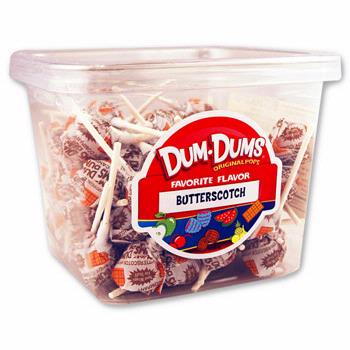 Butterscotch Dum Dum Pops - 120CT Box
