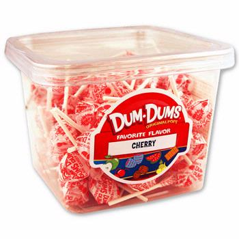 Cherry Dum Dum Pops - 120CT Box