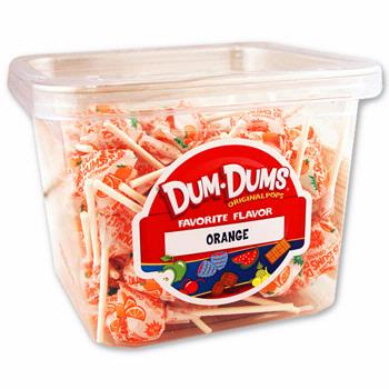 Orange Dum Dum Pops - 120CT Box