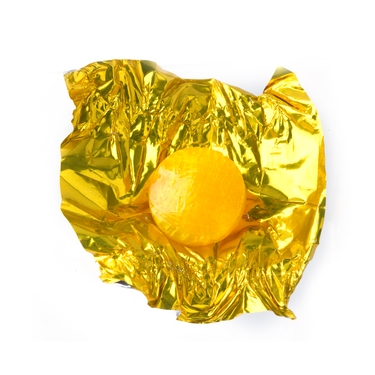 Gold Fruit Flashers Hard Candy - Lemon