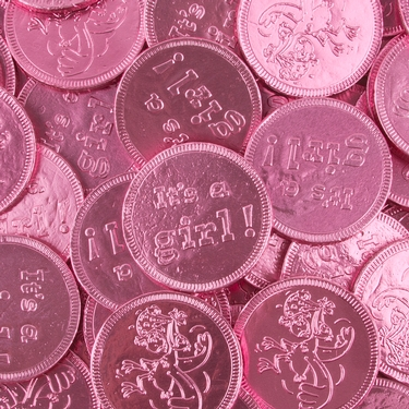 'Its a Girl Chocolate Foiled Coins - 18 Piece Box
