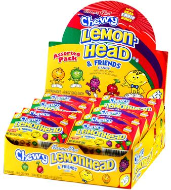 Assorted Lemonhead & Friends Mini Candy Balls - 24CT Case