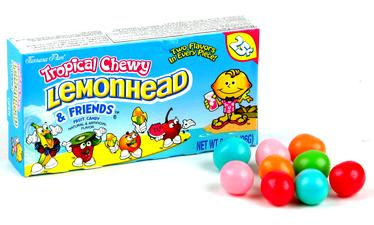 Lemonhead & Friends Mini Candy Balls - Opened