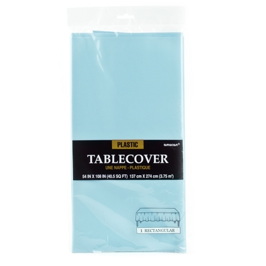 Robins Egg Blue Plastic Table Cover