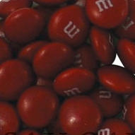 Maroon M&M's Chocolate Candies