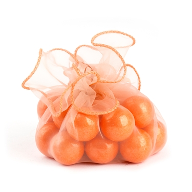 Orange Organza Bag - 12-Pack
