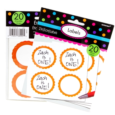 Orange Favor Sticker Labels 20ct