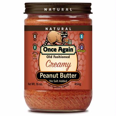 Old Fashioned Creamy Peanut Butter (No Salt Added)