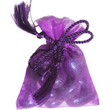 Purple Party Mesh Bags-12 pk