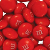 Red M&M's Chocolate Candies