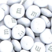 White M&M's Chocolate Candies