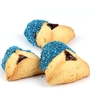 Sapphire Blue Sprinkled Chocolate Dipped Hamantashen - 8CT Box