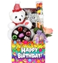 Happy Birthday Teddy Bear Gift Basket