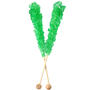 Dark Green Rock Candy Crystal Sticks - Lime