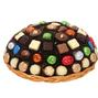 Rainbow Chocolate Wicker Gift