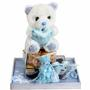Baby Boy Picture Frame & Teddy Bear Gift