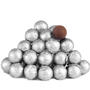 Silver Foiled Milk Chocolate Balls