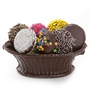 Small Chocolate Covered Cookies In Chocolate Basket