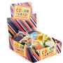 'Color Parade' Foiled Milk Chocolate Coins in Mesh Bags - 12Piece Box
