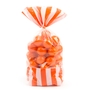 Orange Striped Favor Bag - 10CT