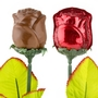 Red Milk Chocolate Rose - 1 Pc