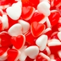 Red&White Gummy Hearts - 2.2LB Bag