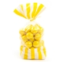 Yellow Striped Favor Bag - 10CT