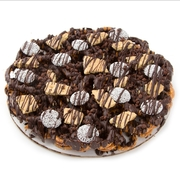 Chocolate Pretzel Pie With Biscuit and Nonpareils