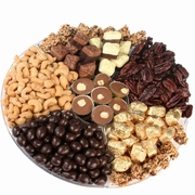 Overflow of Kosher Nuts & Chocolate Gift Tray 12