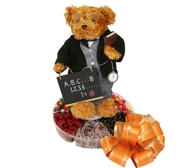 #1 Teacher Teddy Bear W/Six Section Tray