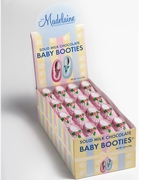 Baby Girl Milk Chocolate Booties - 64CT Display Box