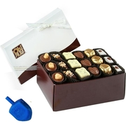 Hanukkah Non-Dairy Chocolate Truffle Gift Box - 18 Pc. Chanukah Gift