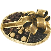 Israeli Chocolate & Nuts Wicker Tray