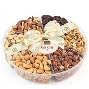 6-Section Assorted Nut Platter - Nuts Gift Basket