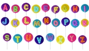 Alphabet Letters Hard Candy Lollipops