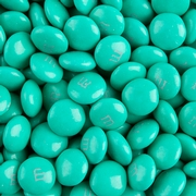 Aqua M&M's Chocolate Candies