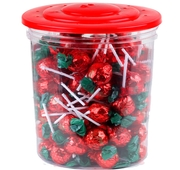 Zaza Jumbo Strawberry Lollipops - 90CT Tub