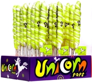 Bright Green & White Unicorn Pops - Apple