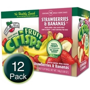 Freeze Dried Strawberry Banan Fruit Crisps - 12CT Box