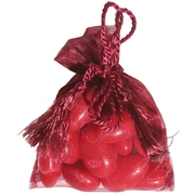 Burgundy Mesh Favor Bags - 12CT Bag